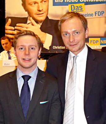 Andreas mit FDP-Mann Christian Lindner.